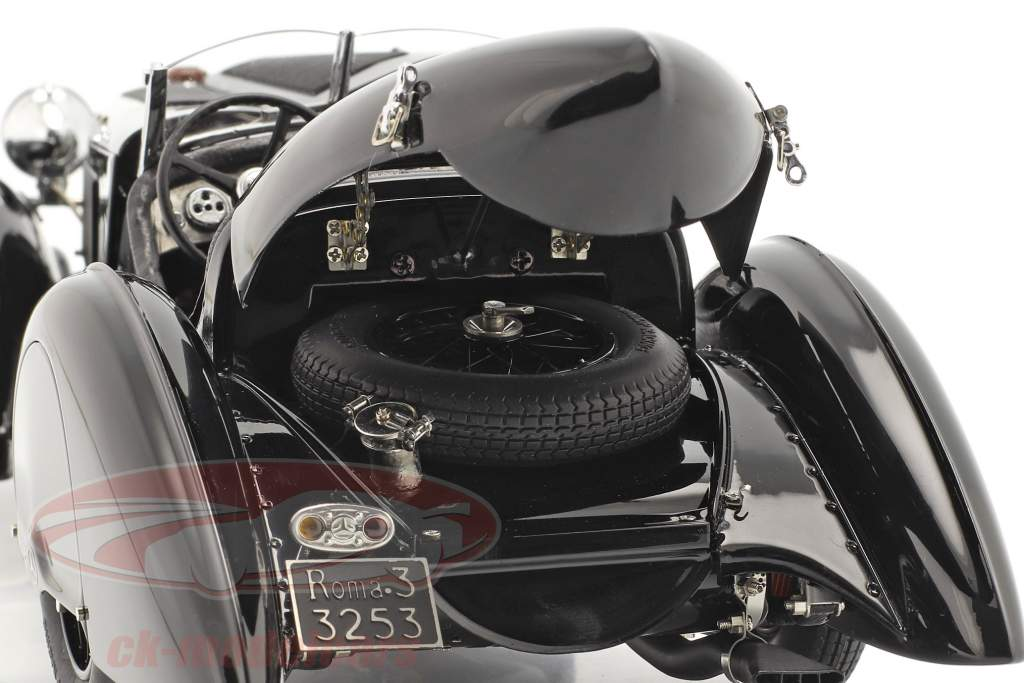 Mercedes-Benz SSK Trossi The Black Prince Año de construcción 1932 negro 1:18 CMC