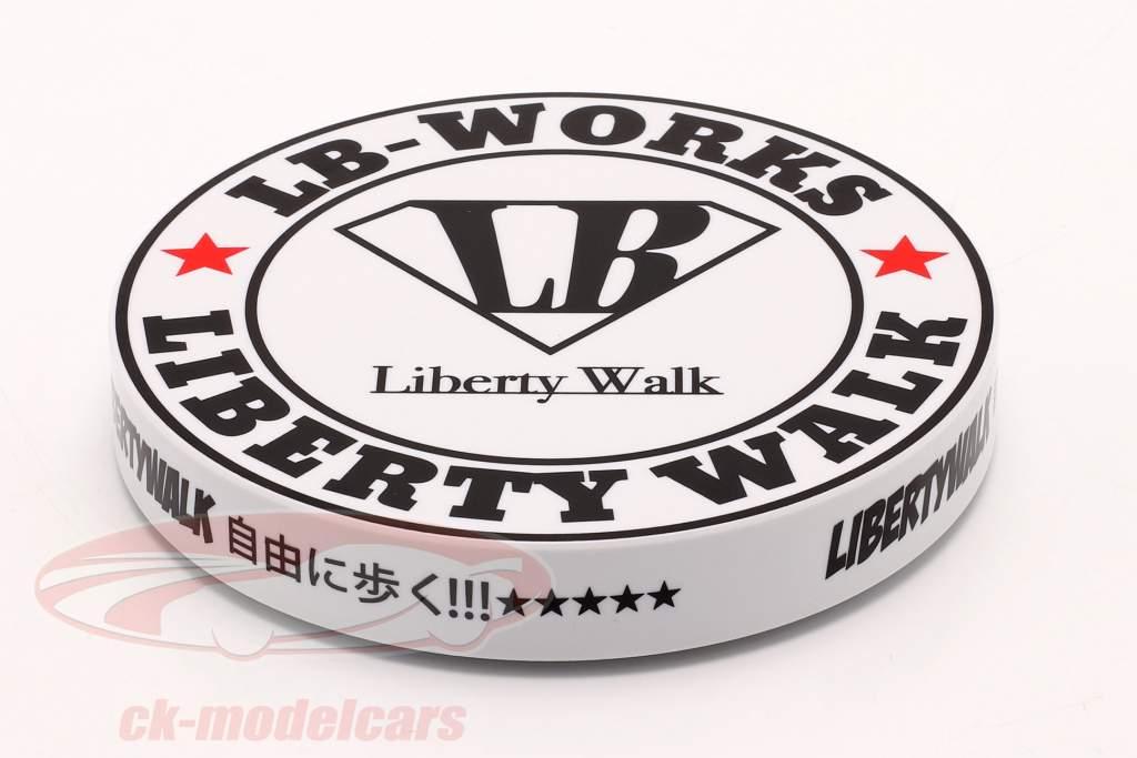 LB-Works Liberty Walk Type A Placa giratoria blanco / negro 1:64 TrueScale