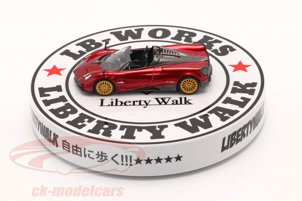 LB-Works Liberty Walk Type A Draaitafel Wit / zwart 1:64 TrueScale