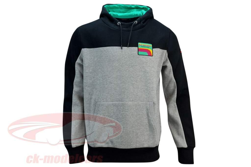 Sweatshirt à capuche Kremer Racing Team Vaillant gris / noir