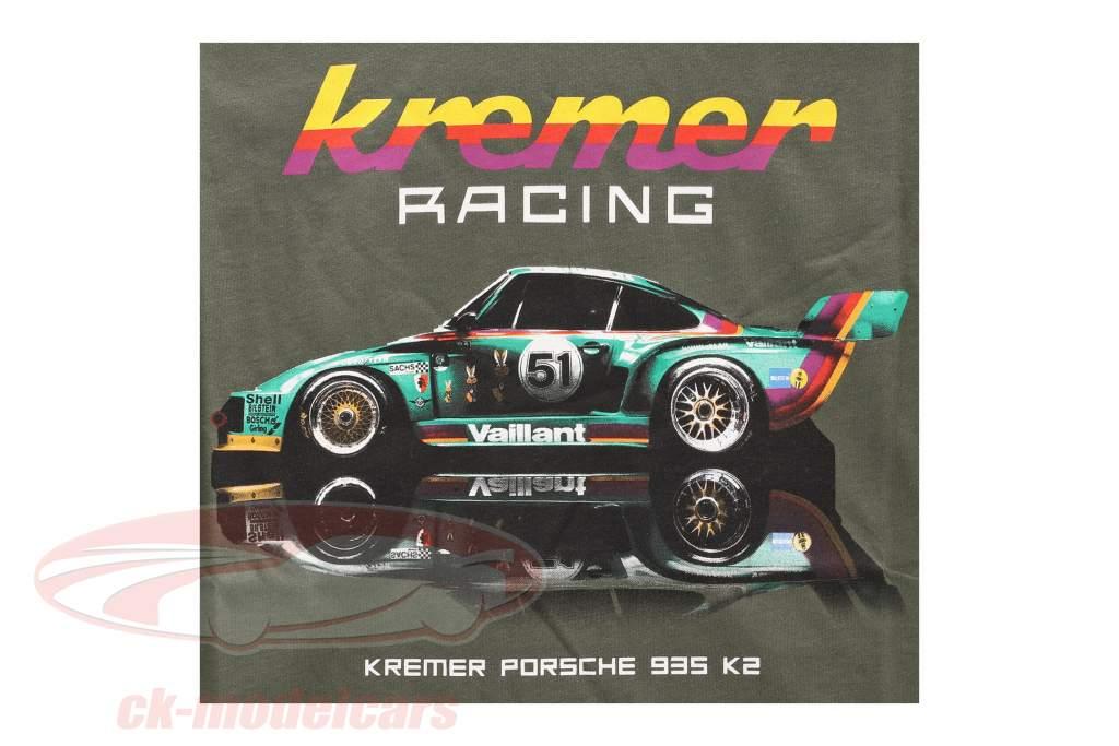 T-Shirt Kremer Racing Porsche 935 K2 verde oliva