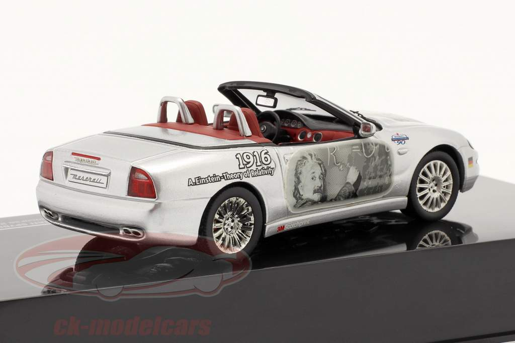 Maserati Spyder Cambiocorsa model 2002  Albert Einstein silver 1:43 Ixo