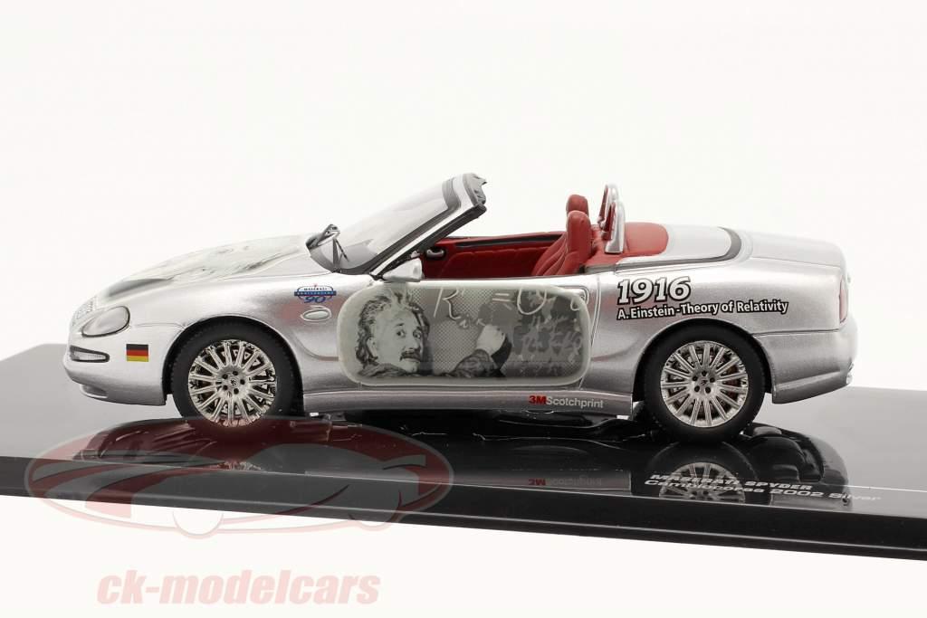 Maserati Spyder Cambiocorsa modèle 2002 argent Albert Einstein 1:43  Ixo