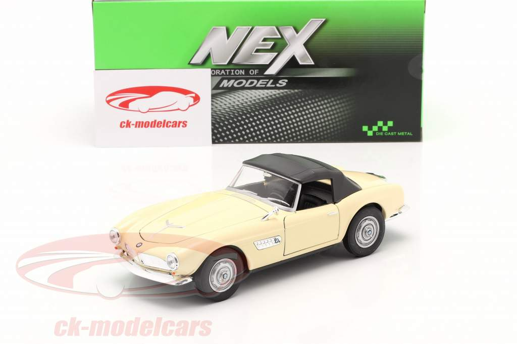 BMW 507 Cabrio Closed Soft Top room Wit 1:24 Welly