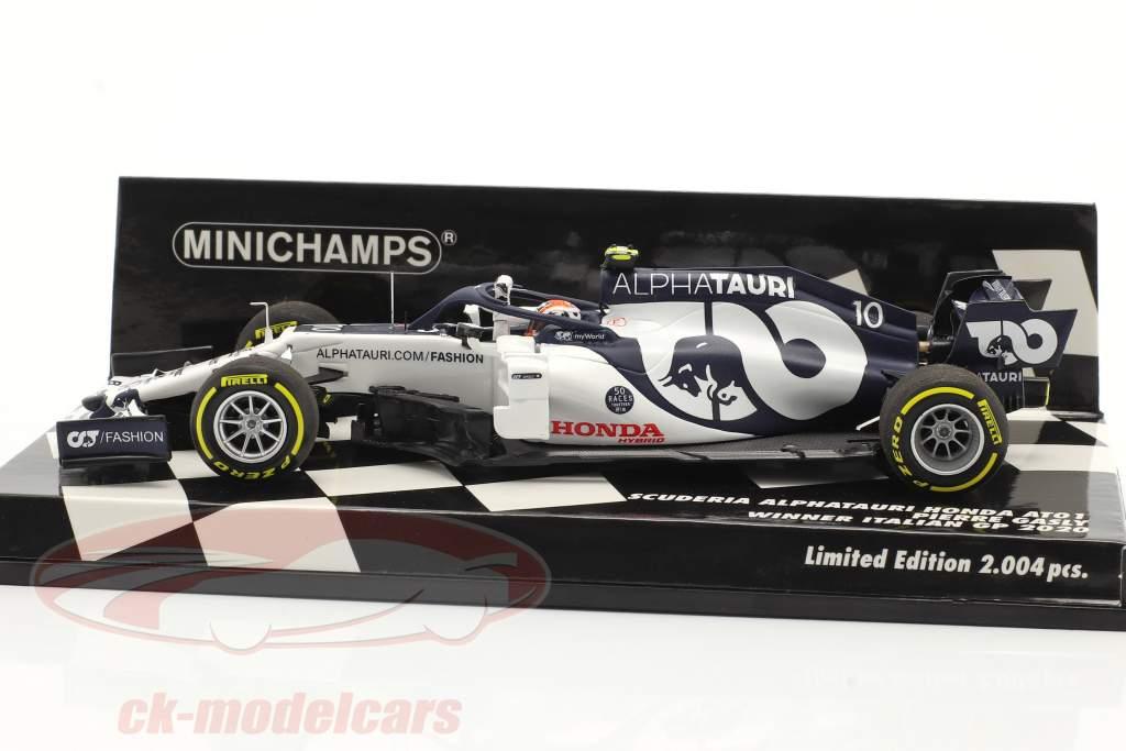 P. Gasly Alpha Tauri AT01 #10 vencedora italiano GP Fórmula 1 2020 1:43 Minichamps