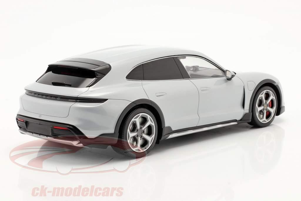 Porsche Taycan Turbo S Cross Turismo 2021 gris glace Avec Vitrine 1:18 Minichamps