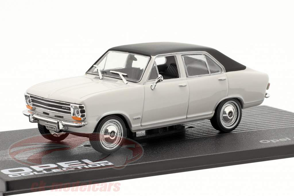 Opel Olympia A Byggeår 1967-1970 lysegrå / sort 1:43 Altaya