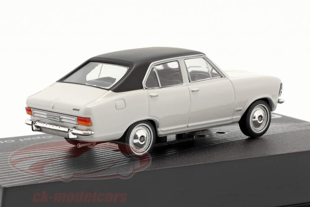 Opel Olympia A year 1967-1970 light grey / black 1:43 Altaya