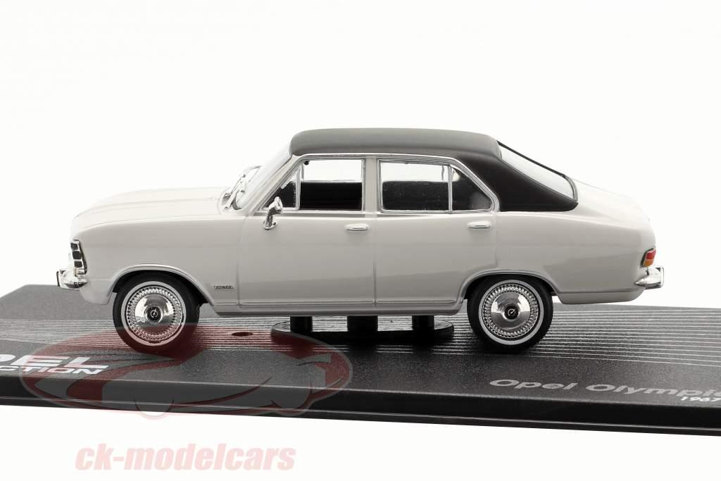 Opel Olympia A Anno di costruzione 1967-1970 grigio chiaro / nero 1:43 Altaya