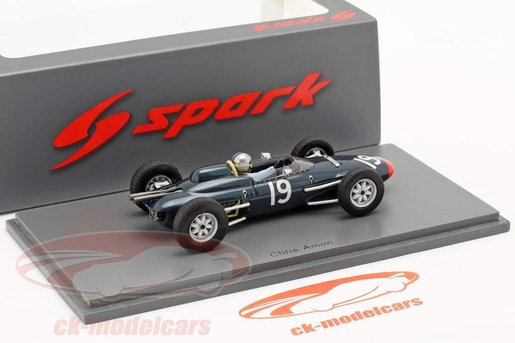 Chris Amon Lola Mk4A #19 Great Britain GP formula 1 1963 1:43 Spark