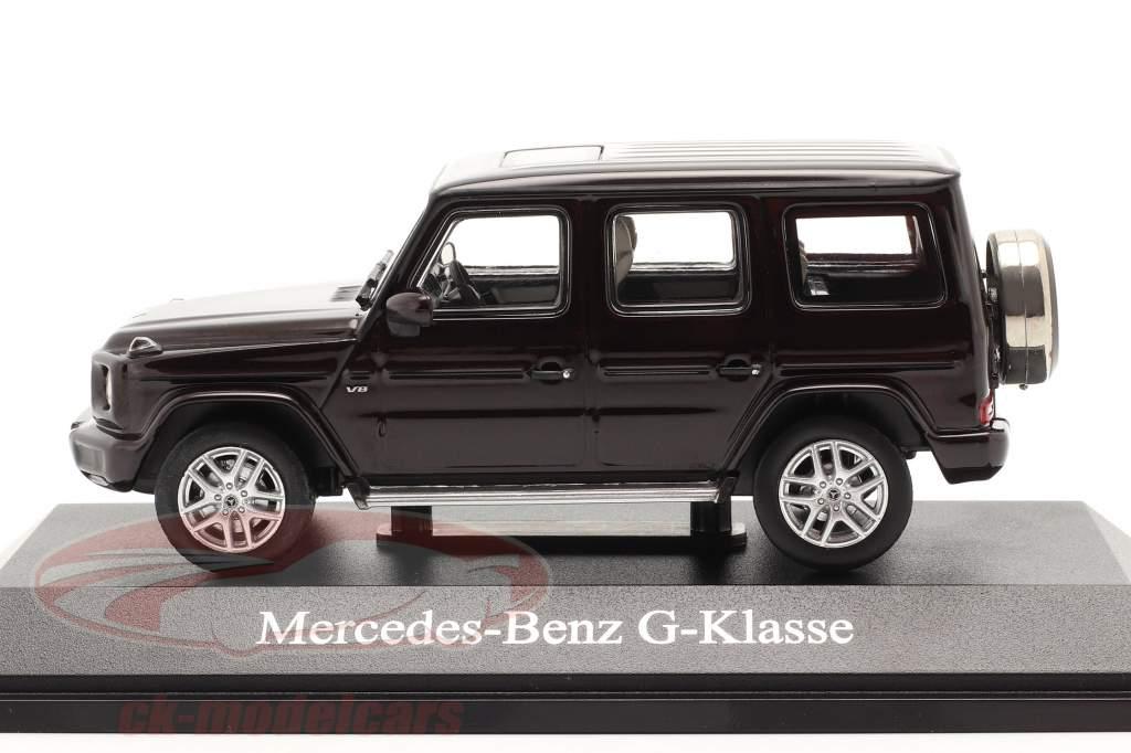 Mercedes-Benz G-klasse G 500 (W463) bouwjaar 2018 rubelliet rood 1:43 Norev