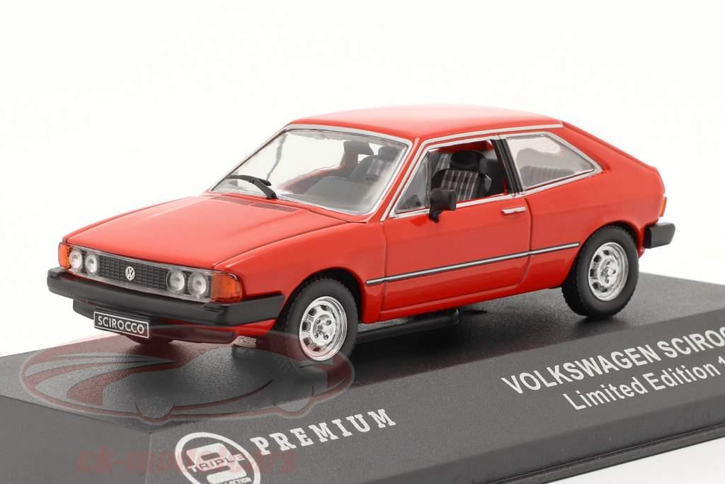 Volkswagen Scirocco Opførselsår 1980 rød 1:43 Triple 9