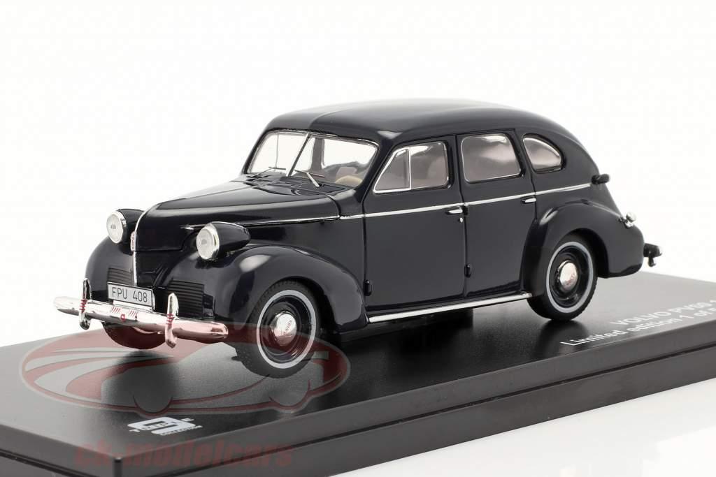 Volvo PV60 Jaar 1947 donkerblauw 1:43 Triple 9