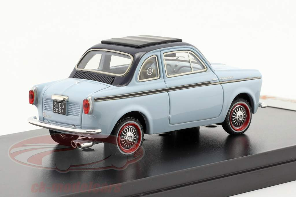 NSU-Fiat Weinsberg 500 Jaar 1960 blauw 1:43 Premium X