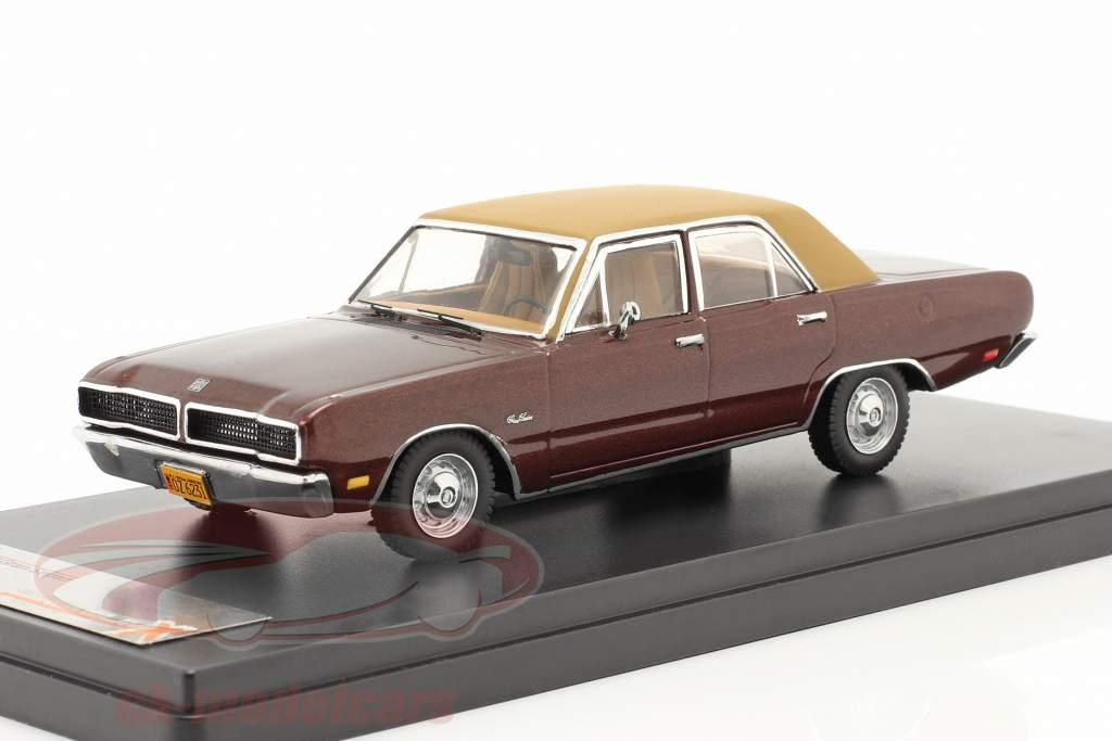 Dodge Dart Gran Sedan År 1976 brun 1:43 Premium X
