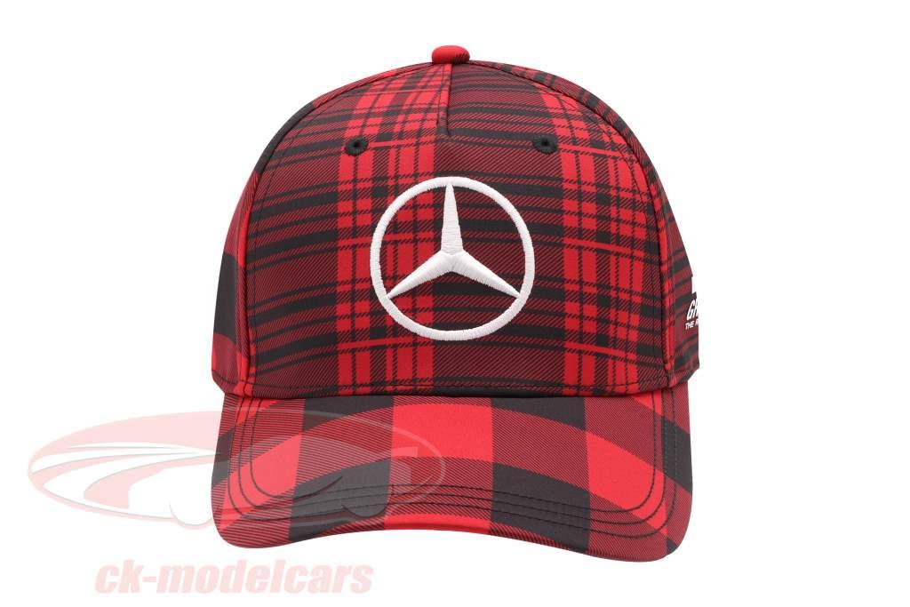 Lewis Hamilton Canada Casquette Mercedes AMG Petronas formule 1 2021 rouge / noir