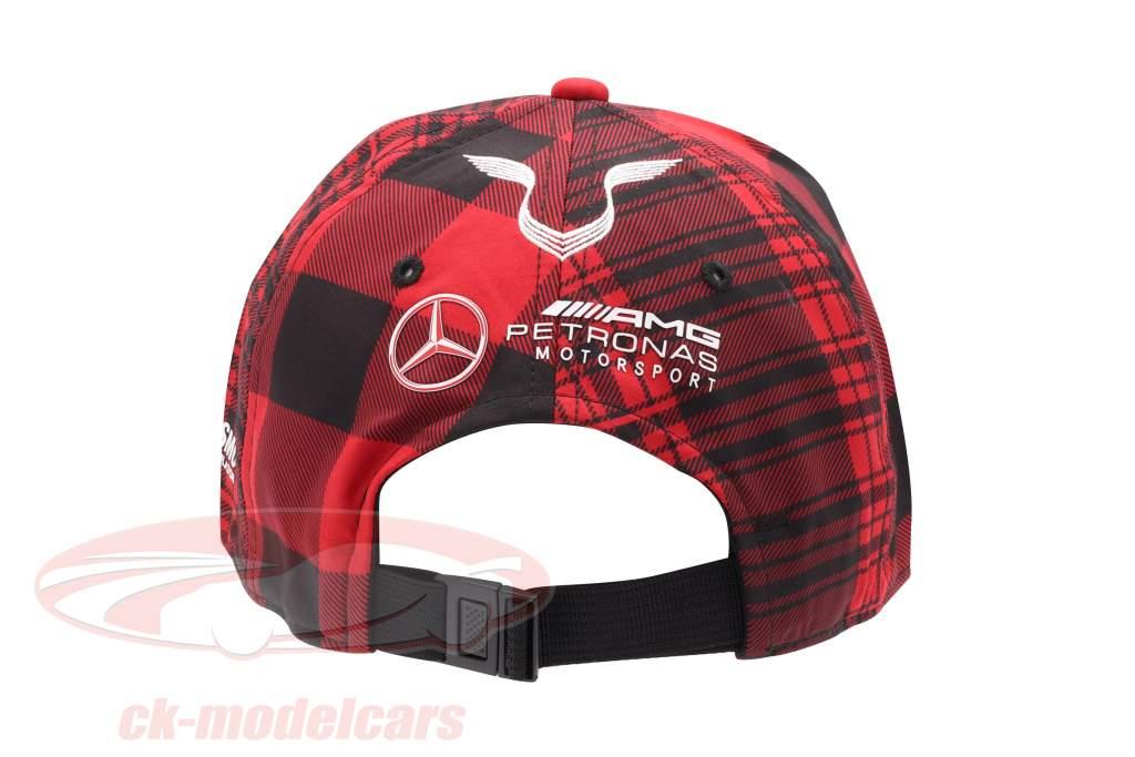 Lewis Hamilton Canada Kasket Mercedes AMG Petronas formel 1 2021 rød / sort