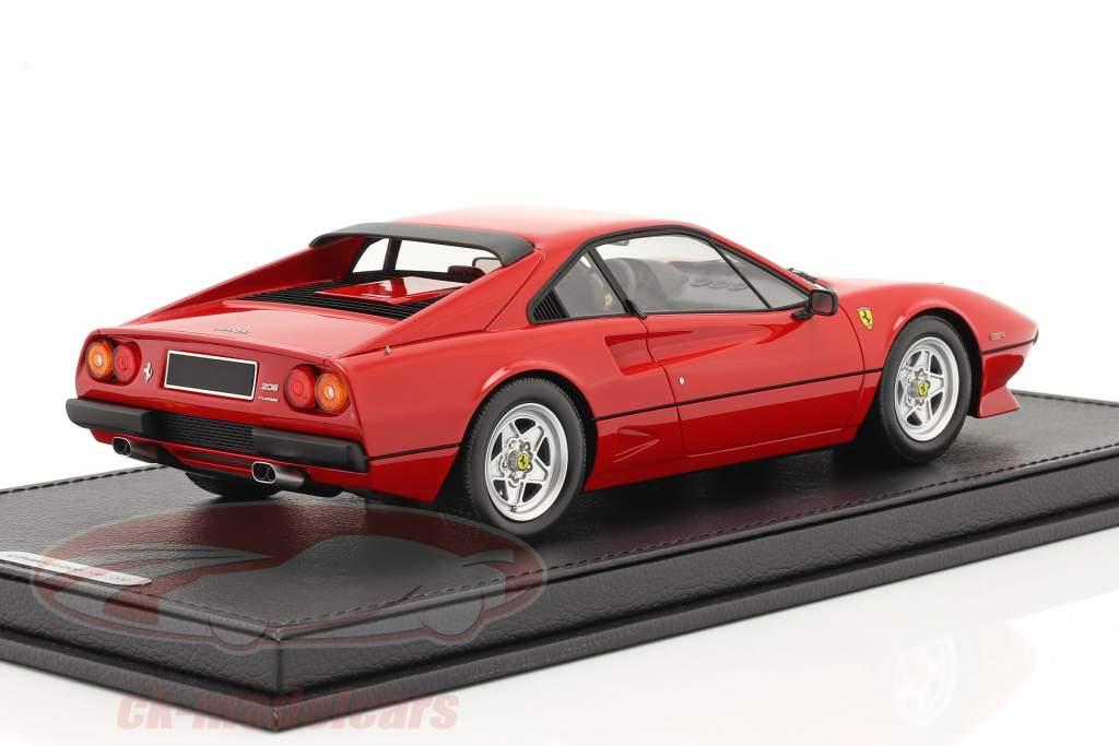 Ferrari 208 GTB Turbo Byggeår 1982 corsa rød 1:18 BBR