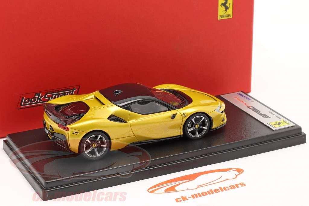 Ferrari SF90 Stradale Año de construcción 2019 Montecarlo amarillo 1:43 LookSmart