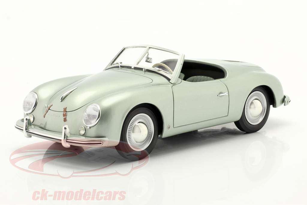 Porsche 356 America Roadster 1952 zilver groen metalen 1:18 Cult Scale