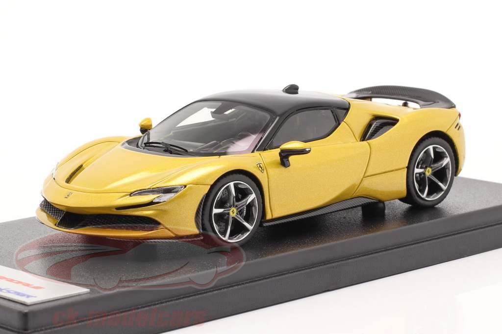 Ferrari SF90 Stradale Baujahr 2019 Montecarlo gelb 1:43 LookSmart