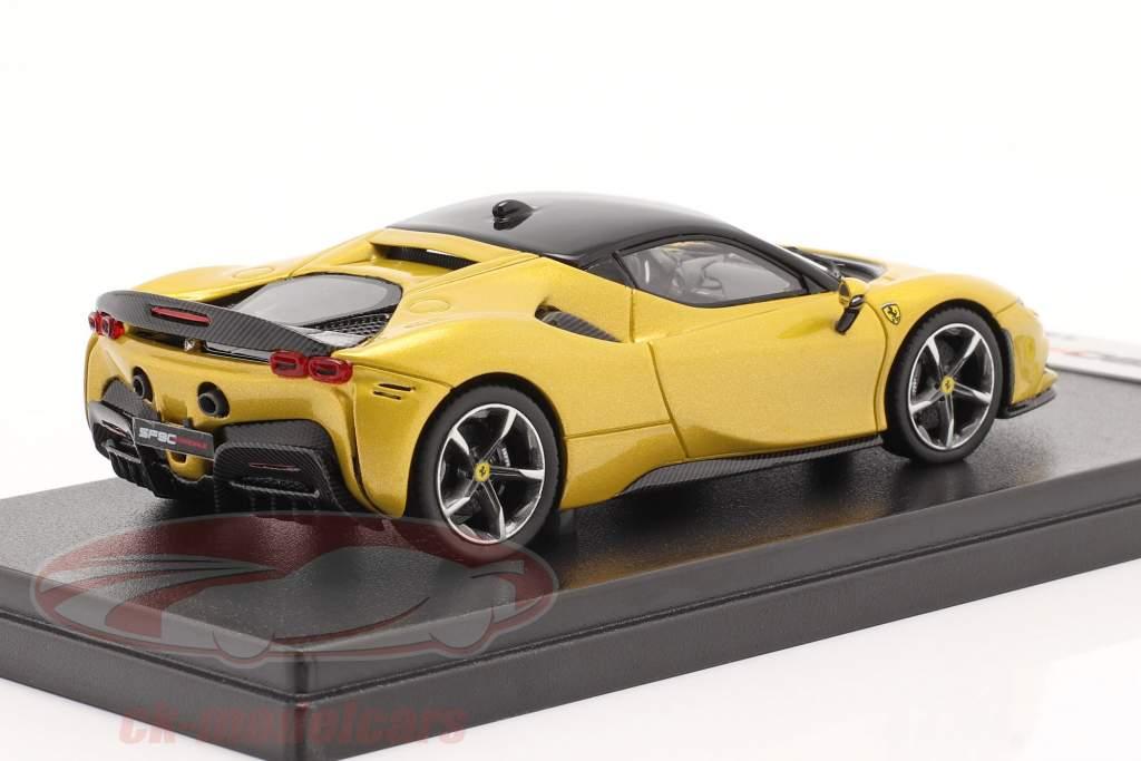 Ferrari SF90 Stradale year 2019 Montecarlo yellow 1:43 LookSmart