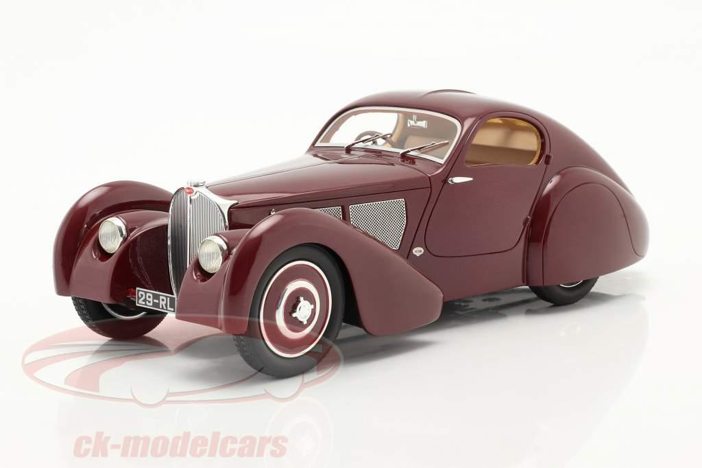 Bugatti Modelo 51 Dubois Coupe 1931 castanho-avermelhado 1:18 Cult Scale