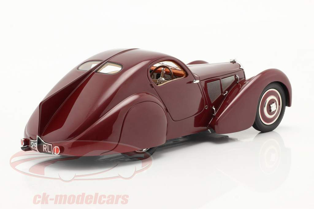 Bugatti Type 51 Dubois Coupe 1931 red-brown 1:18 Cult Scale