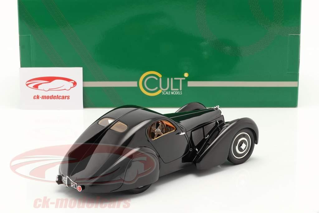 Bugatti Type 51 Dubois Coupe 1931 zwart 1:18 Cult Scale