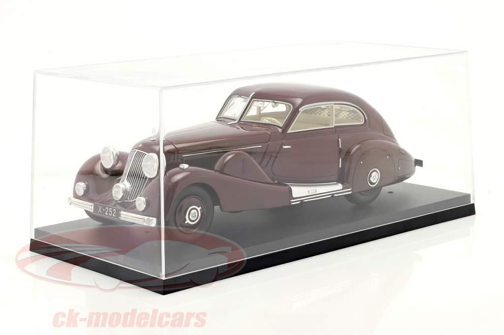 Mercedes-Benz 500K Særlig Strømlinet bil 1935 rødbrun 1:18 Matrix