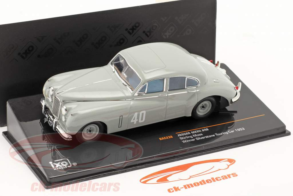 Stirling Moss Jaguar MKVII #40 gagnant Silverstone Touring Car 1953 1:43 Ixo / 2. choix