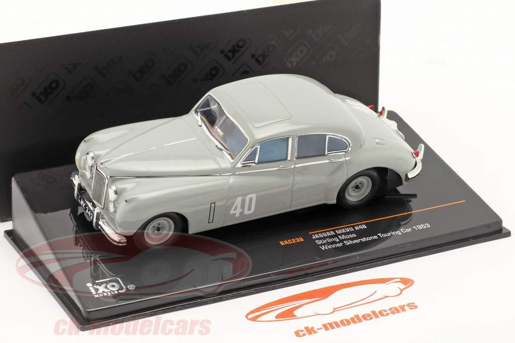 Stirling Moss Jaguar MKVII #40 Vinder Silverstone Touring Car 1953 1:43 Ixo