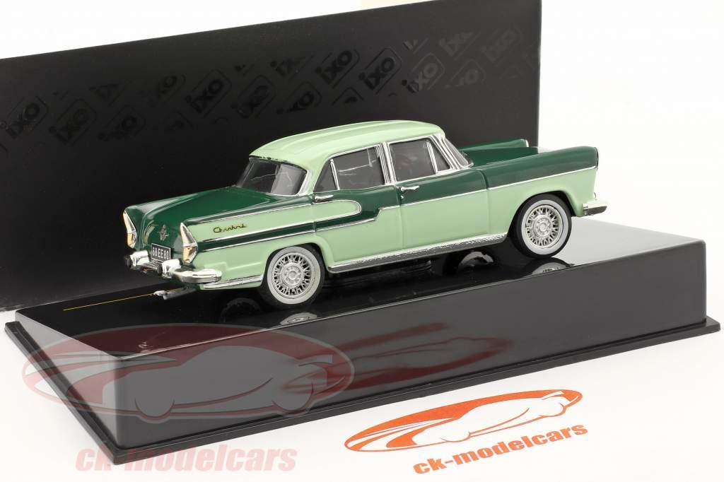 Simca Chambord jaar 1958 donkergroen / kalk 1:43 Ixo
