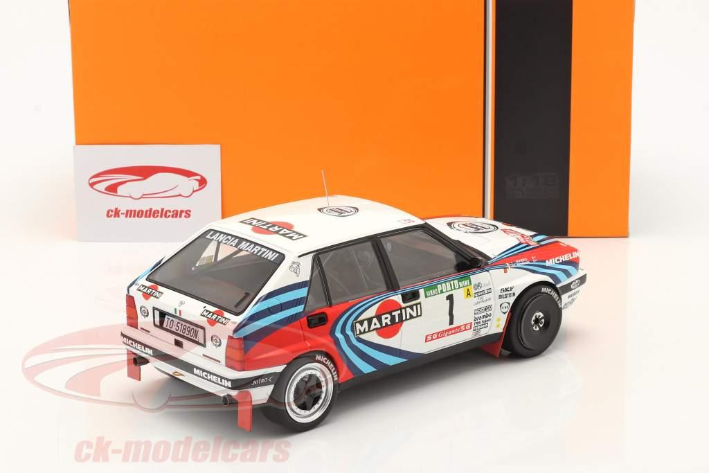 Lancia Delta Integrale 16V #1 vinder Rallye Portugal 1990 Biasion, Siviero 1:18 Ixo