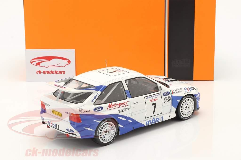 Ford Escort RS Cosworth #7 7e Rallye Tour de Corse 1993 Biasion, Siviero 1:18 Ixo