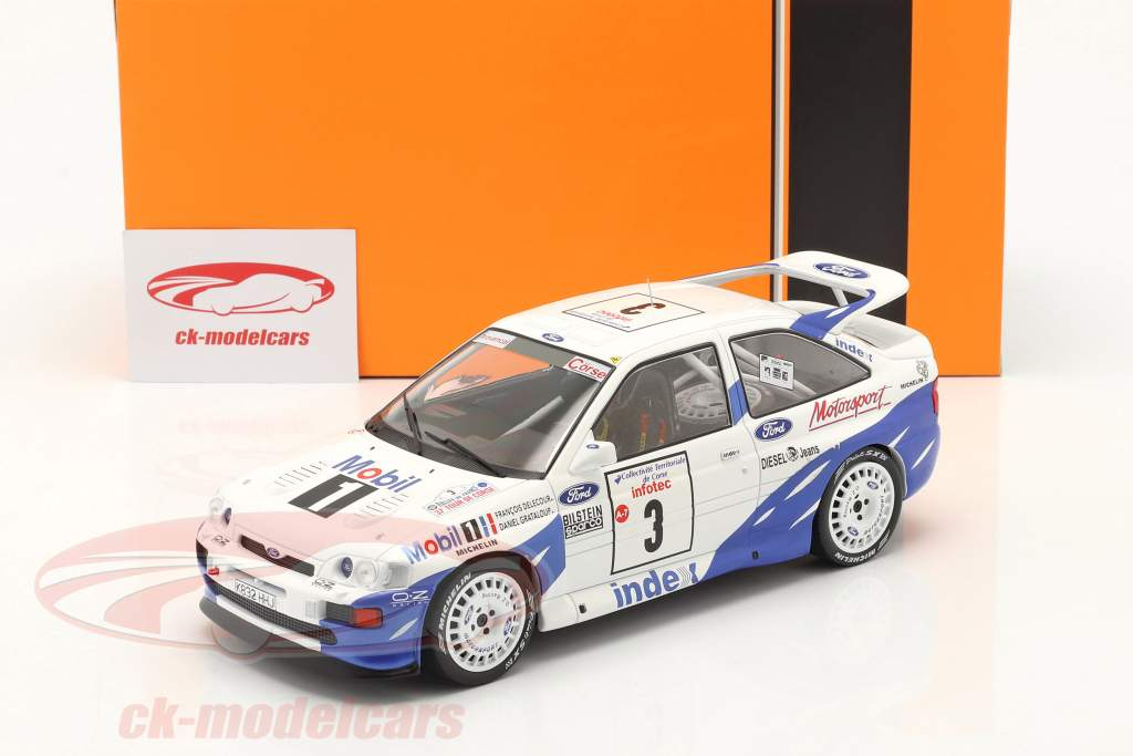 Ford Escort RS Cosworth #3 победитель Rallye Tour de Corse 1993 Delecour, Grataloup 1:18 Ixo