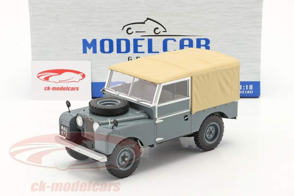 Land Rover Series I RHD Byggeår 1957 Grå / beige 1:18 Model Car Group