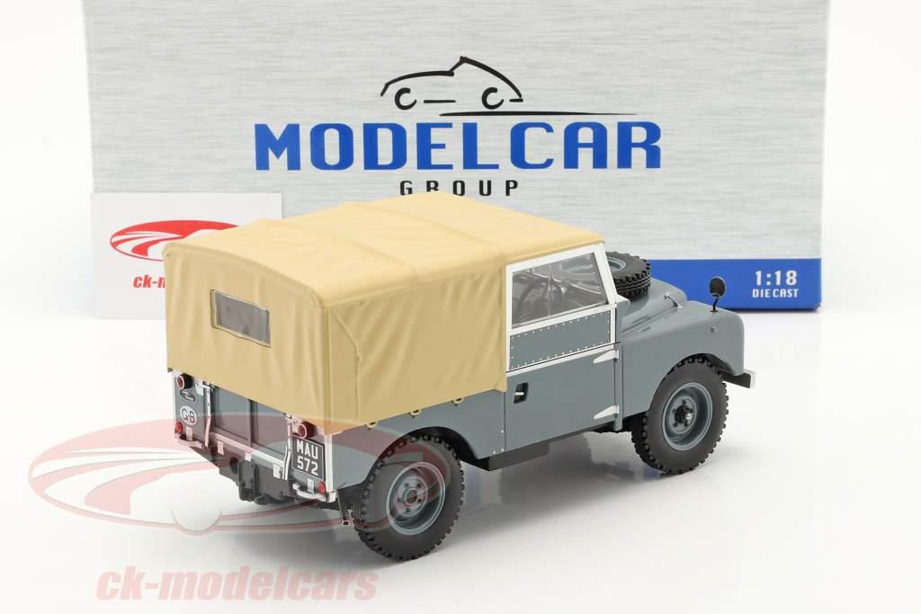 Land Rover Series I RHD Ano de construção 1957 cinza / bege 1:18 Model Car Group