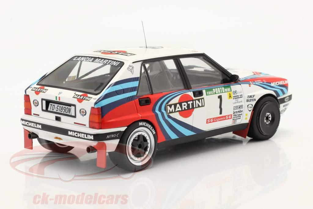 Lancia Delta Integrale 16V #1 победитель Rallye Португалия 1990 Biasion, Siviero 1:18 Ixo