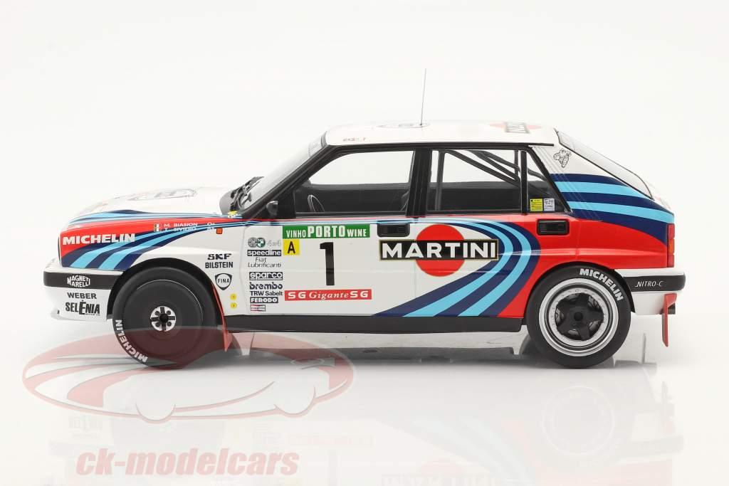 Lancia Delta Integrale 16V #1 winnaar Rallye Portugal 1990 Biasion, Siviero 1:18 Ixo