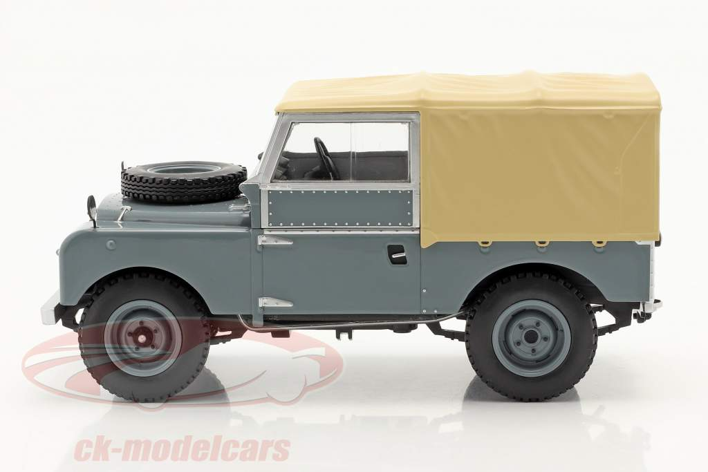 Land Rover Series I RHD Baujahr 1957 grau / beige 1:18 Model Car Group