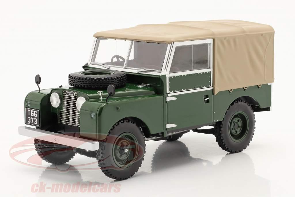 Land Rover Series I RHD Anno di costruzione 1957 verde scuro / beige 1:18 Model Car Group