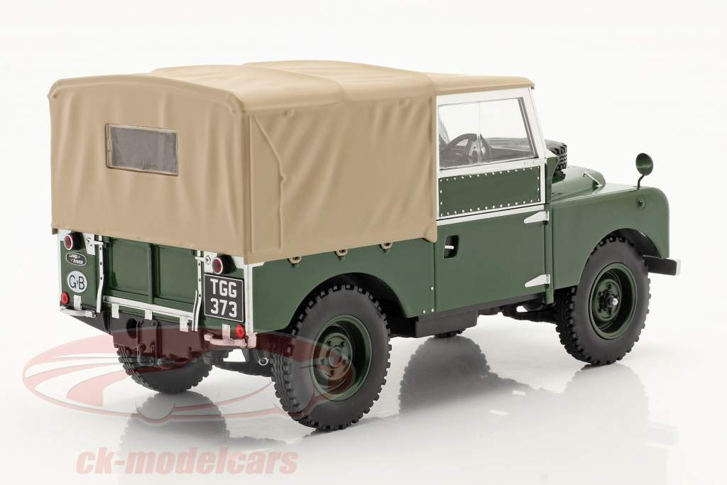 Land Rover Series I RHD bouwjaar 1957 donkergroen / beige 1:18 Model Car Group