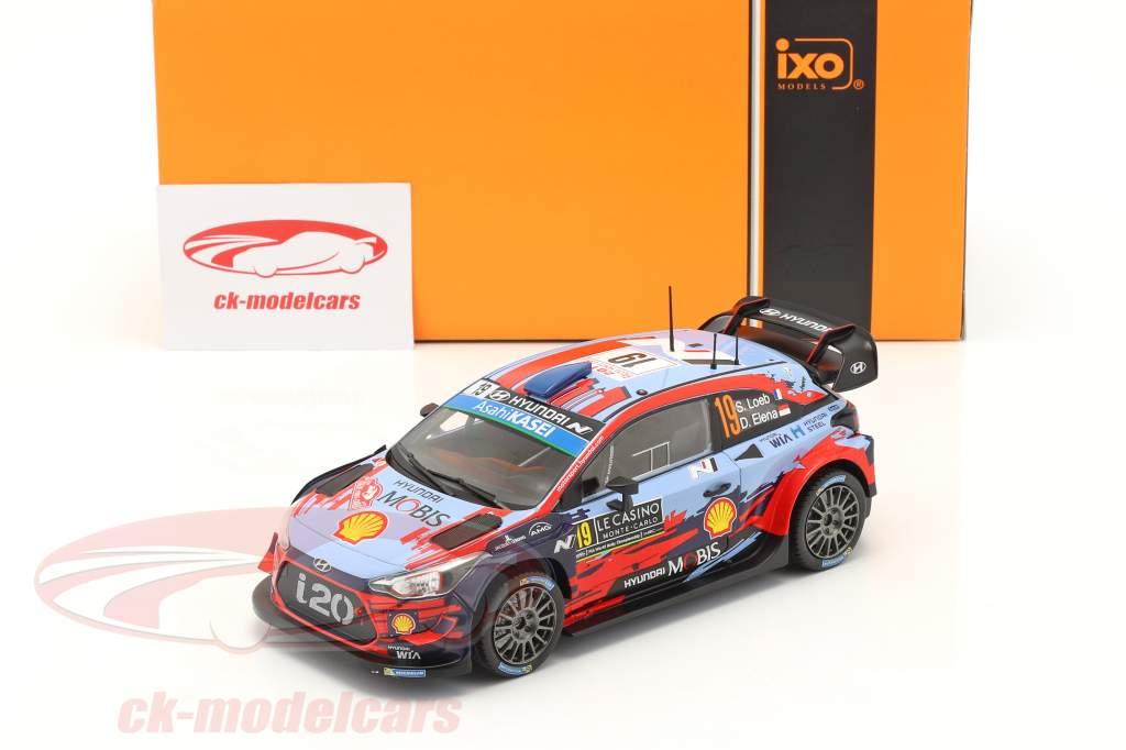 Hyundai i20 Coupe WRC #19 4. plads Rallye Monte Carlo 2020 Loeb, Elena 1:24 Ixo