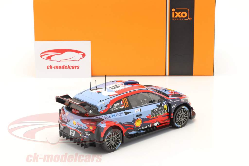 Hyundai i20 Coupe WRC #19 4th Rallye Monte Carlo 2020 Loeb, Elena 1:24 Ixo