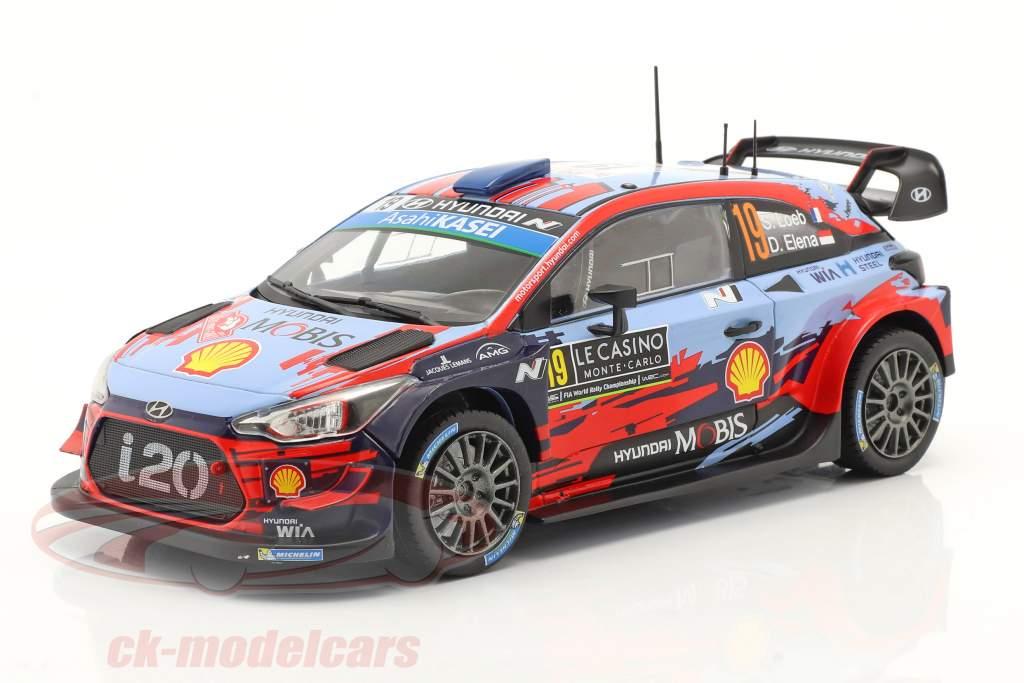 Hyundai i20 Coupe WRC #19 4e Rallye Monte Carlo 2020 Loeb, Elena 1:24 Ixo
