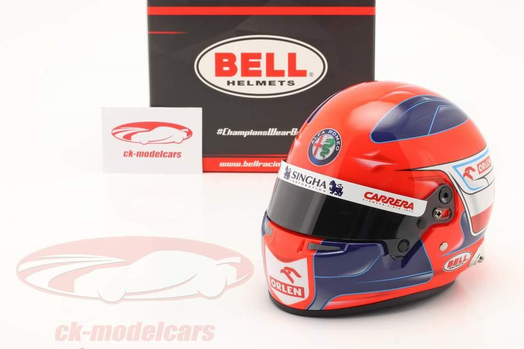 Robert Kubica Alfa Romeo Racing Orlen formula 1 2021 casco 1:2 Bell