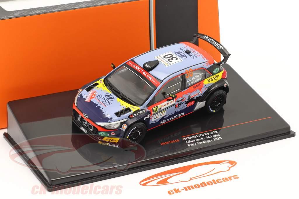 Hyundai i20 R5 #30 Rallye Cerdeña 2020 Huttunen, Lukka 1:43 Ixo