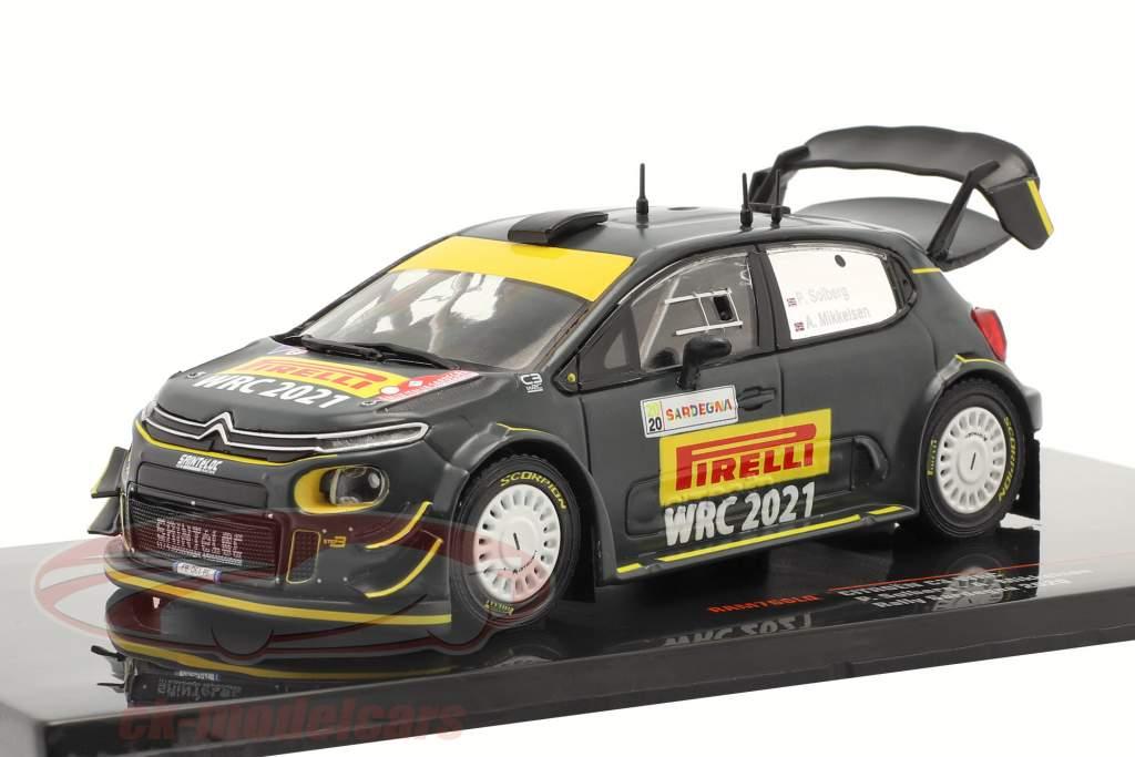 Citroen C3 WRC Véhicule avancé Rallye Sardaigne 2020 Solberg, Mikkelsen 1:43 Ixo