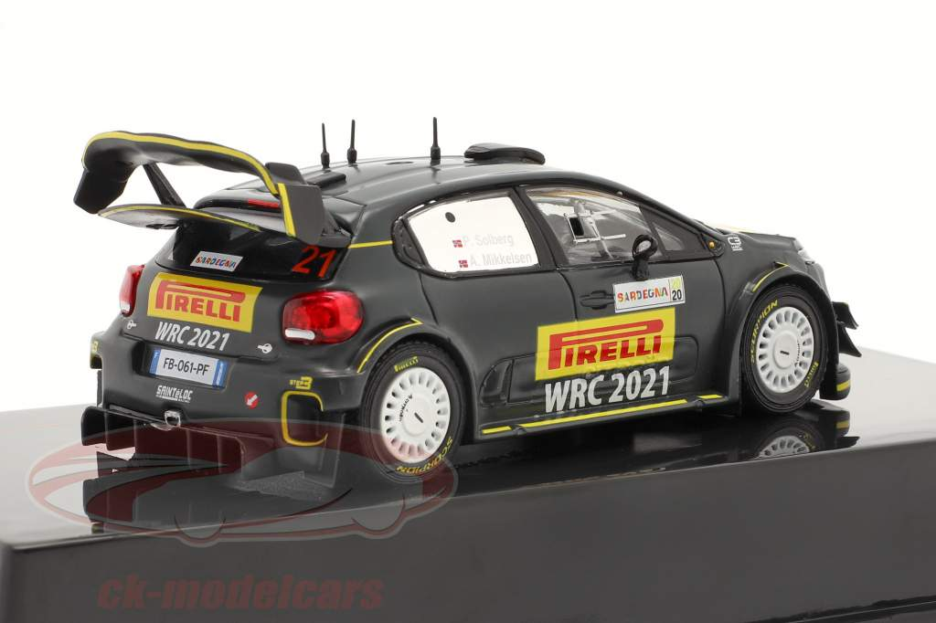 Citroen C3 WRC Veículo avançado Rallye Sardenha 2020 Solberg, Mikkelsen 1:43 Ixo